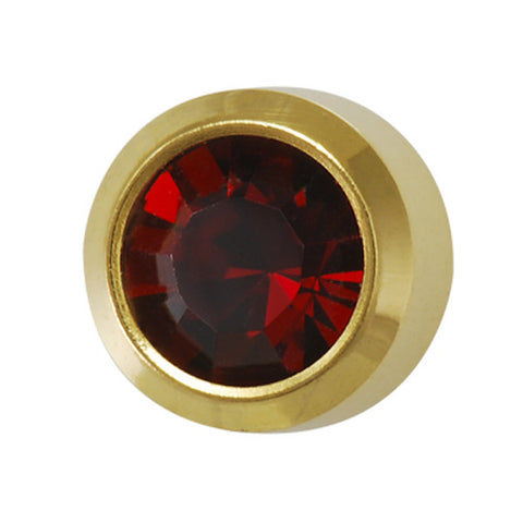 Medium January Birthstone Gold Plated - JewelryPackagingBox.com