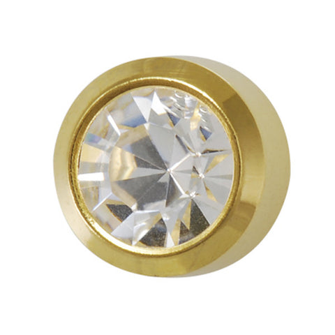 Medium April Birthstone Gold Plated - JewelryPackagingBox.com