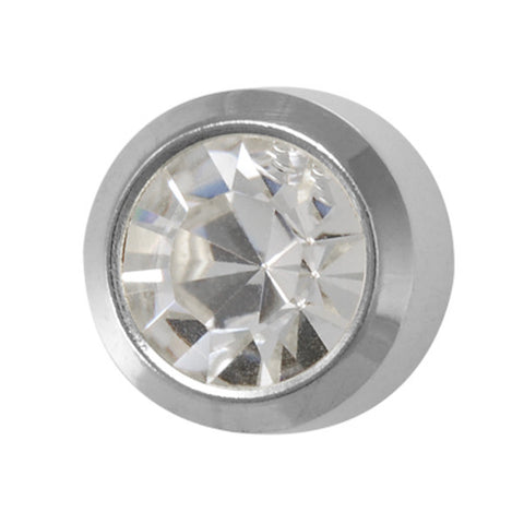 Medium April Birthstone Stainless Steel - JewelryPackagingBox.com