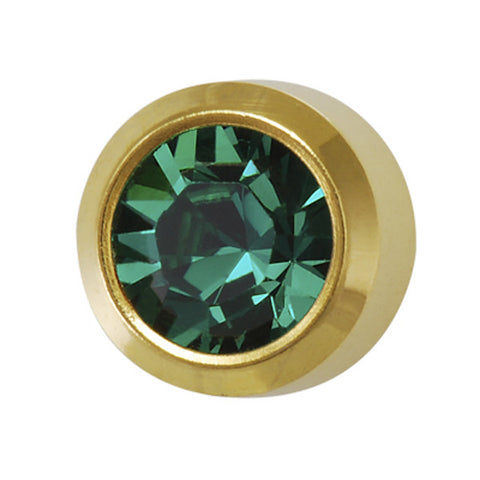 Medium May Birthstone Gold Plated - JewelryPackagingBox.com