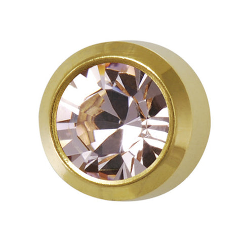 Medium June Birthstone Gold Plated - JewelryPackagingBox.com