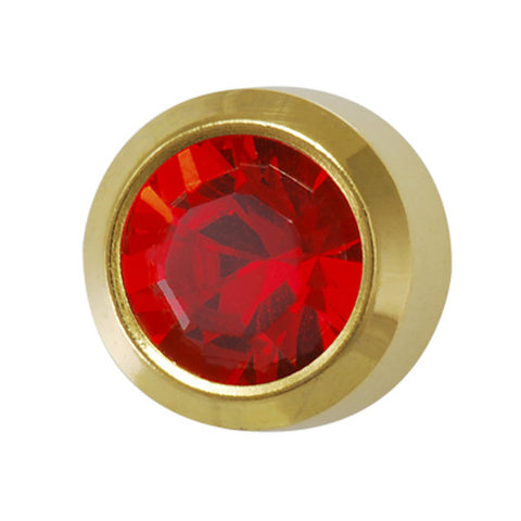 Medium July Birthstone Gold Plated - JewelryPackagingBox.com