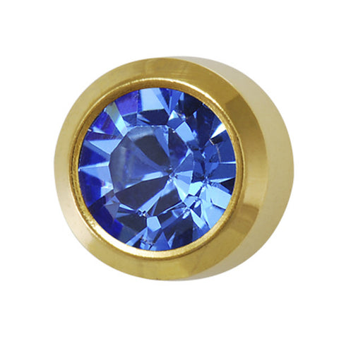 Medium September Birthstone Gold Plated - JewelryPackagingBox.com