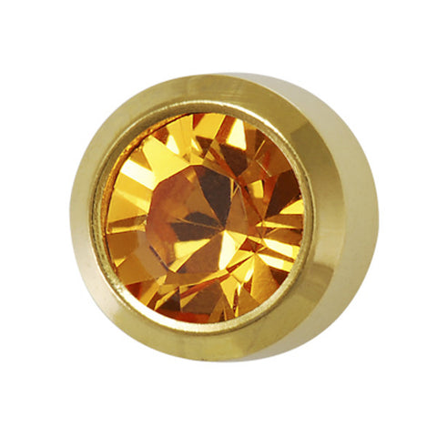 Medium November Birthstone Gold Plated - JewelryPackagingBox.com