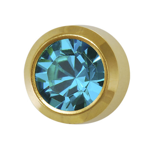 Medium December Birthstone Gold Plated - JewelryPackagingBox.com