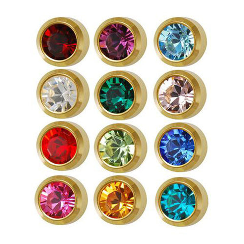Medium Assorted Birthstone Gold Plated - JewelryPackagingBox.com