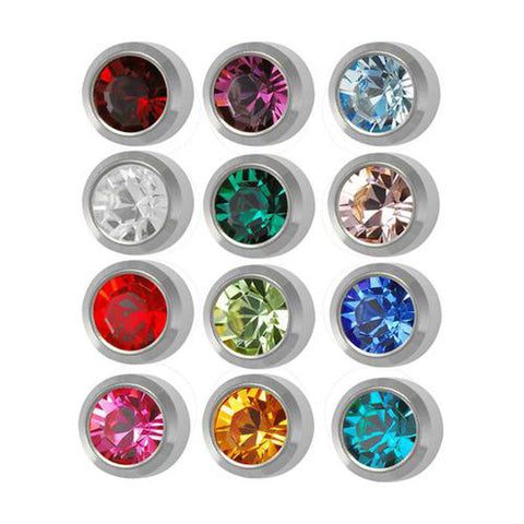 Medium Assorted Birthstone Stainless Steel - JewelryPackagingBox.com