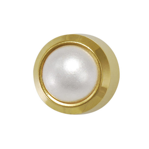 Medium Pearl Gold Plated - JewelryPackagingBox.com