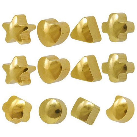 Studex Ear Piercing Gold Plated Studs in Assorted Shapes - JewelryPackagingBox.com