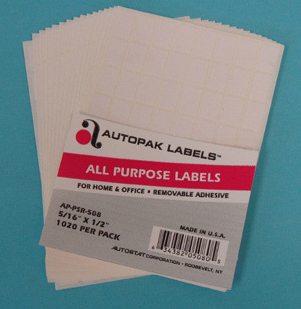 "AutoPak Labels 5/16 X 1/2"" - JewelryPackagingBox.com"