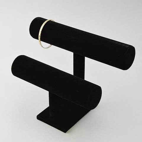 Round Double T Bar - JewelryPackagingBox.com