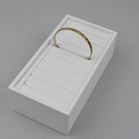 REMOVABLE BANGLE TRAY HALF SIZE WHITE - JewelryPackagingBox.com