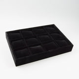 12 Slot Watch Display Tray - JewelryPackagingBox.com