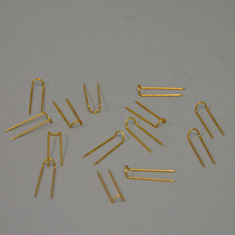 Brass U-pins pack of 1000 - JewelryPackagingBox.com
