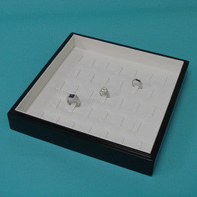 Black Wood Stackable Ring Tray - JewelryPackagingBox.com