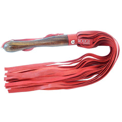 Rouge Garments Wooden Handled Red Leather Flogger