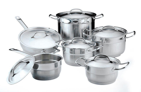 Hotel Line 12pc Cookware Set SS