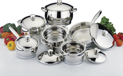 Cosmo 12pc Cookware Set SS
