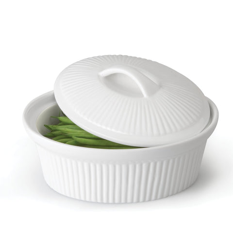 Bianco Oval Covered Casserole 2.5qt