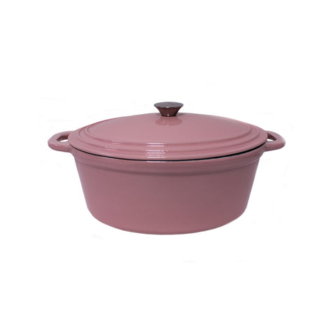 Neo 5qt Cast Iron Oval Covered Casserole Pink