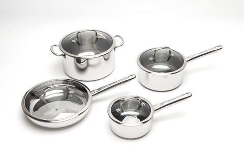 EarthChef Boreal 8pc Cookware Set SS