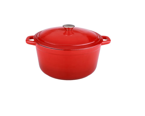 Neo 5qt Cast Iron Oval Cov Casserole Red