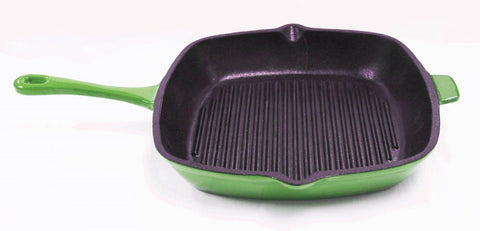 "Neo 11"" Cast Iron Grill Pan Green"