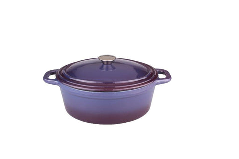Neo 8qt Cast Iron Oval Cov Casserole Purple