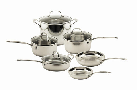 EarthChef Premium Copper Clad 10pc Cookware Set w/ Glass Lids
