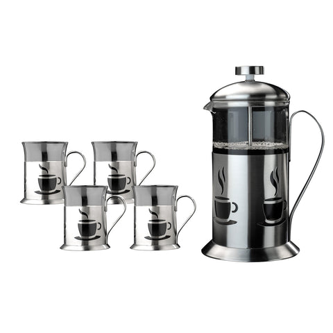 French Press 5pc Coffee Set**