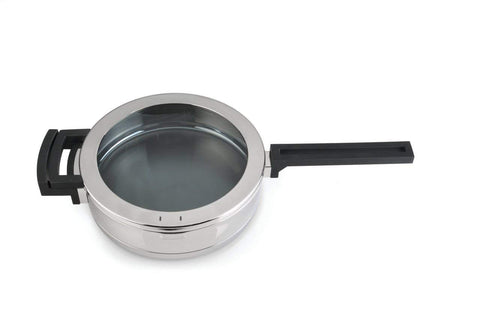 Neo 10-Inch Covered Deep Skillet, 2.5-Quart, Stainless Steel/Glass
