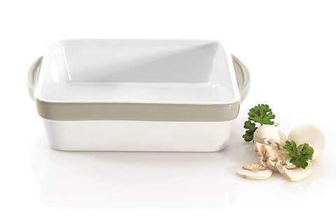 Eclipse Square Baking Dish, White
