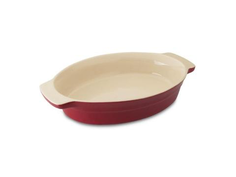 "Geminis Oval Baking 16"" Dish Red"