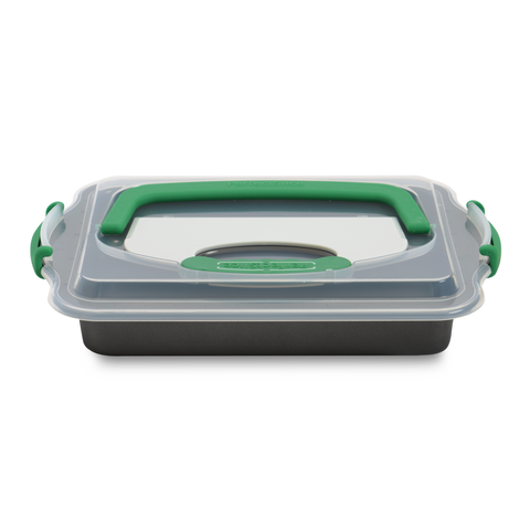 "Perfect Slice Covered 9""x13"" Cake Pan w/Tool (Bel)"