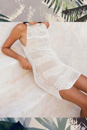 'Sea Point' Crochet Mini Dress