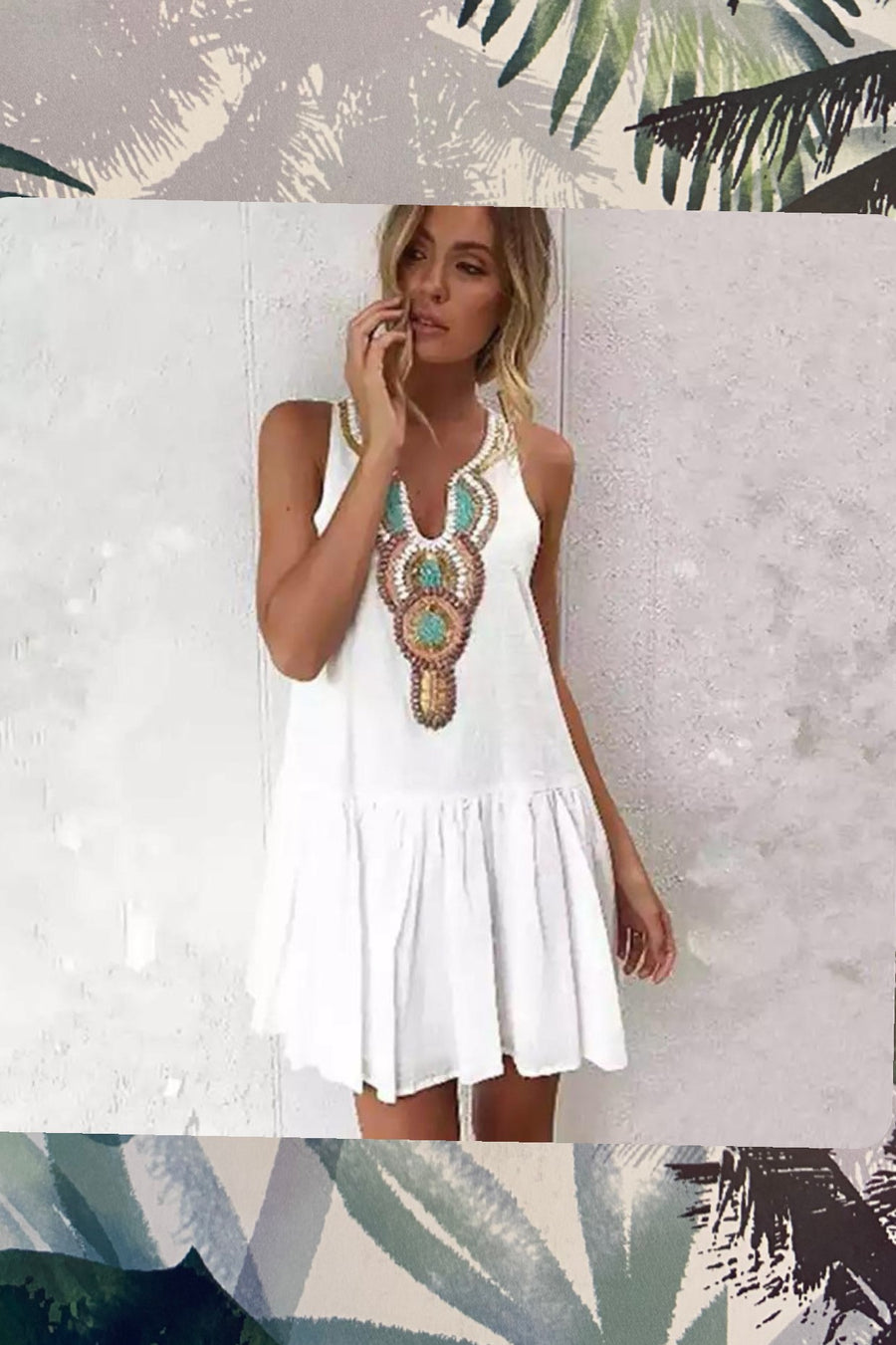 ' Mykonos' Beach Dress