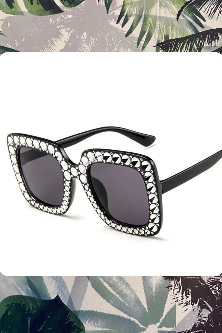 'Paris' Oversize Black Sunglasses