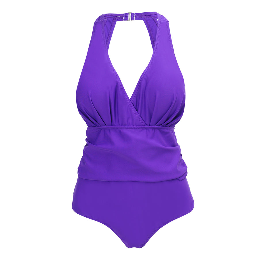 'Love Lucy' One Piece- Purple - Bikini Genie