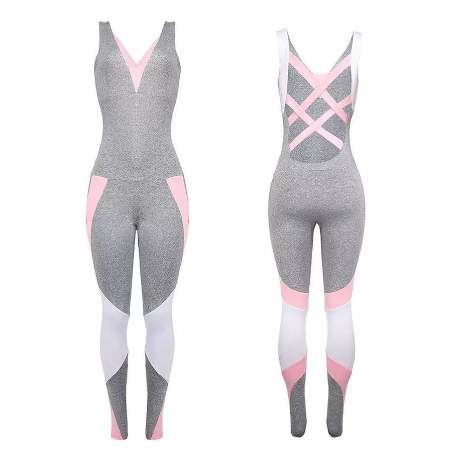 'Davina' all in one yoga jumpsuit - Bikini Genie