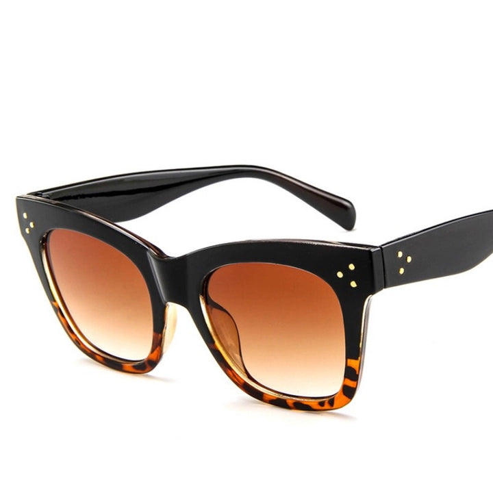 'Milan' black and Leopard Sunglasses