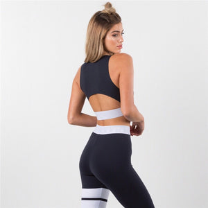 ' Dina ' black leggings and top gym coord set - Bikini Genie