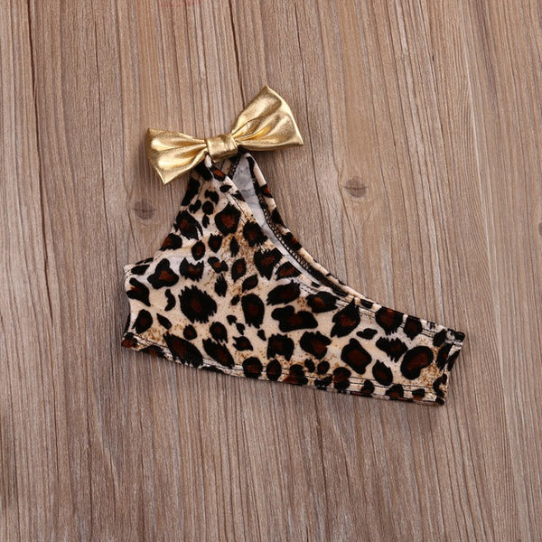 'Princess' Leopard and Gold Bikini