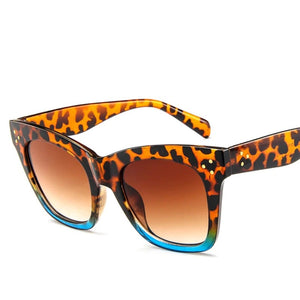 ' Milan' Leopard and turquoise Sunglasses
