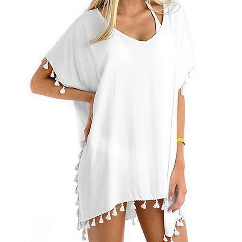 ' Mika ' White Cover Up