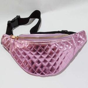 ' Amelia'' Metallic pink bum bag