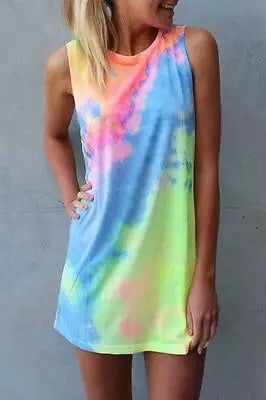 ' Fleur' Tie Dye Mini Dress