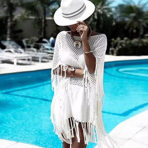' Fawn' white cover up - Bikini Genie