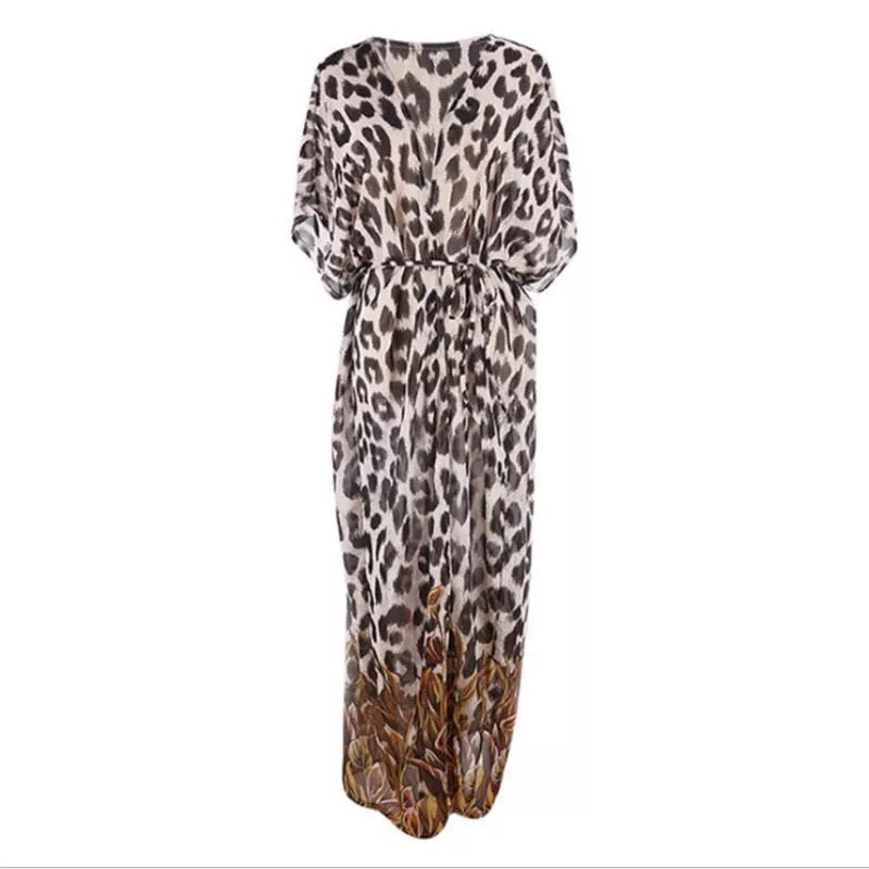 ' Nicole ' leopard cover up