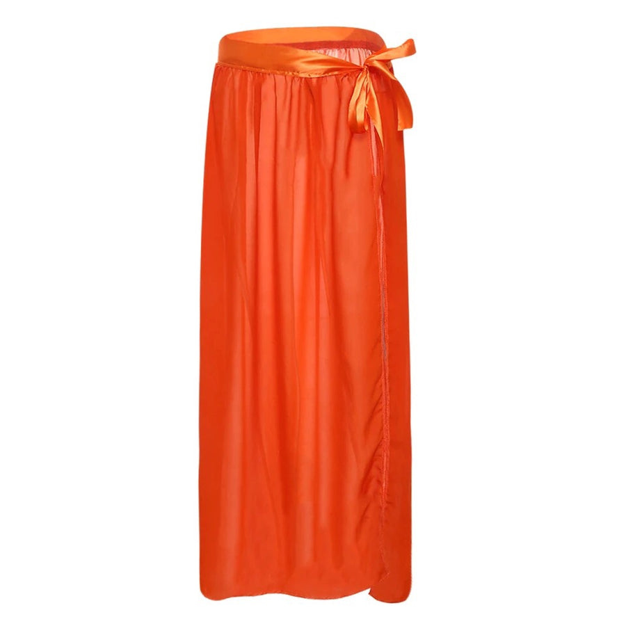 'Zara' Chiffon Orange Maxi Skirt - Bikini Genie