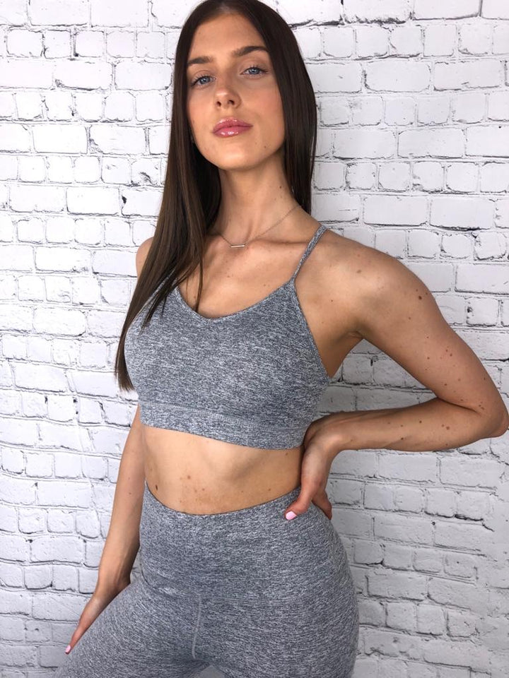 'Kara' grey two piece gym set - Bikini Genie